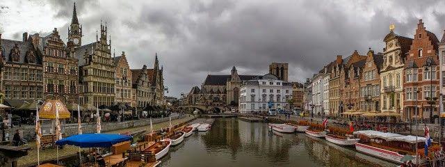 panoramica de gante belgica
