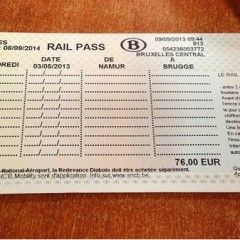 Transporte en Bélgica. Muévete en tren.
