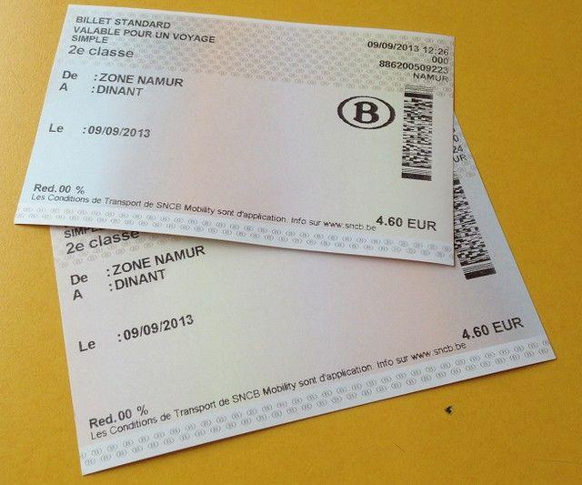 ticket sencillo belgica