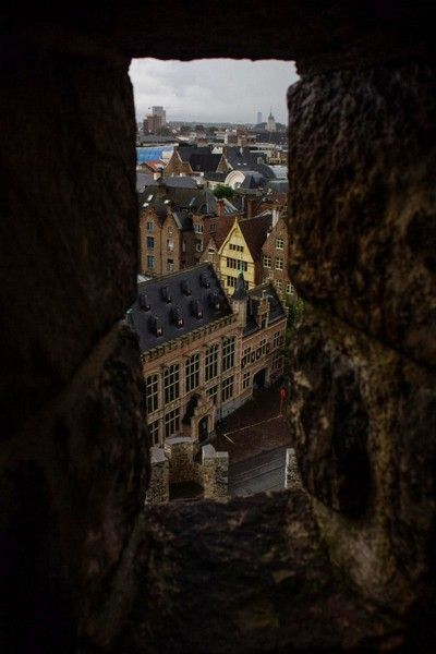 vistas castillo de gante belgica