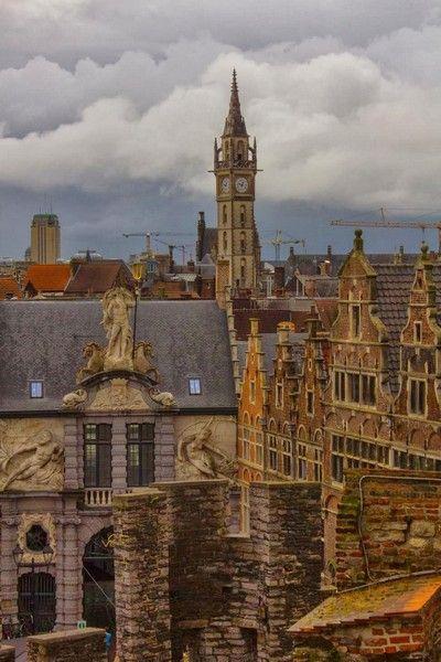 vistas desde el castillo de gante belgica