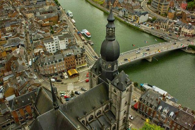 vistas desde la ciudadela dinant belgica