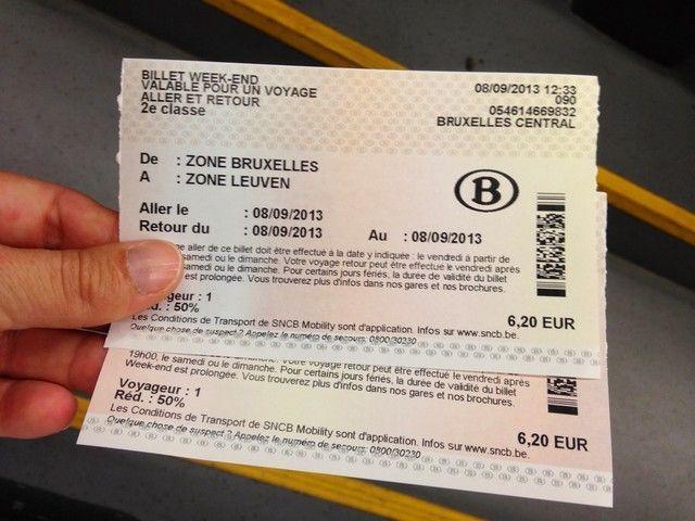 weekend ticket belgica