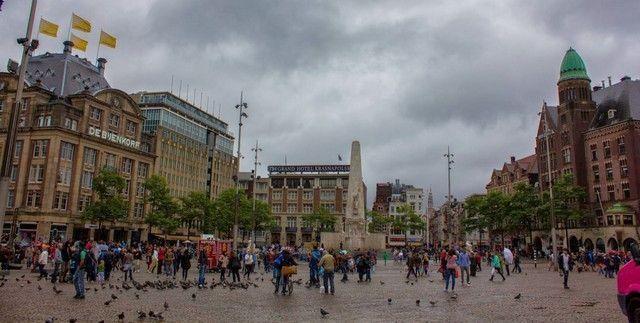 panorámica plaza Dam Amsterdam