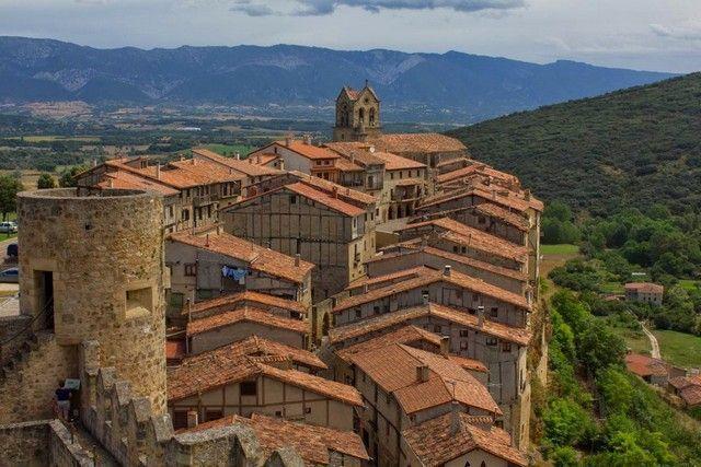 vista de frias desde el castillo burgos