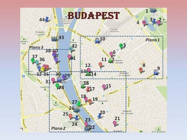 budapest mapa 1