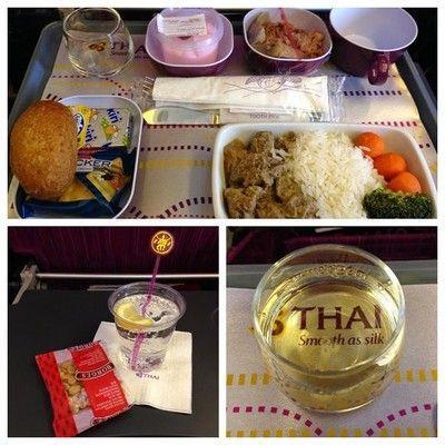 comida en vuelo Thai airwais