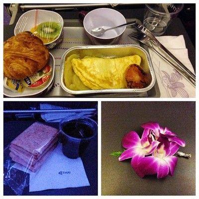 desayuno vuelo thai airwais