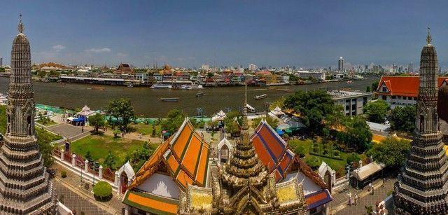 Impresionantes vistas desde el Wat Arun