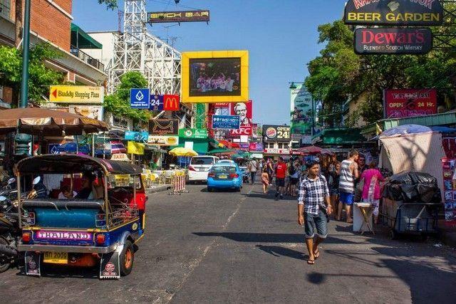 Khao San detalle de la calle