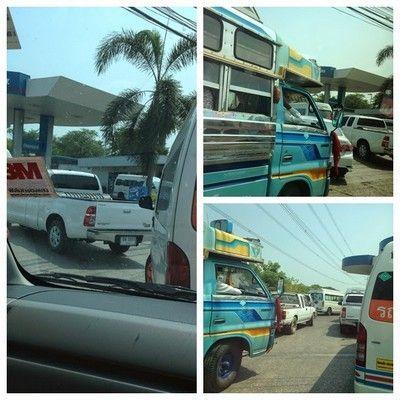 atasco gasolinera tailandesa