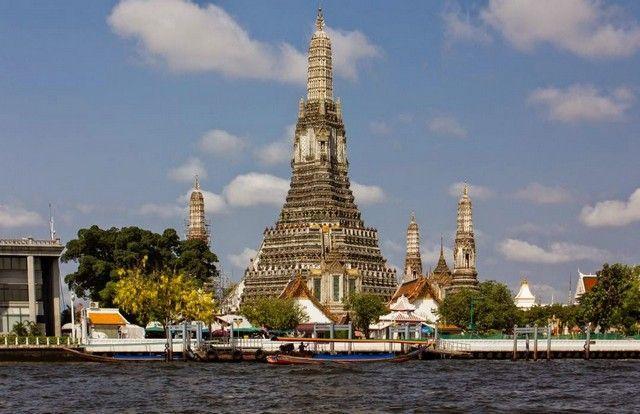 bangkok templo desde rio wat arun