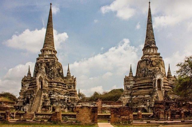 exterior Wat Phra Si Sanphet ayutthaya