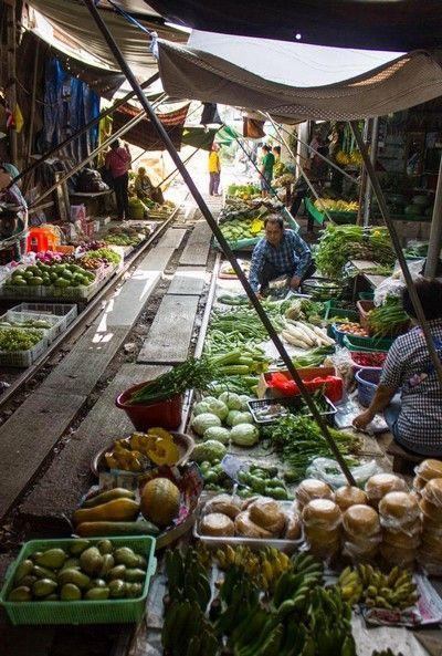 mae klong market tailandia