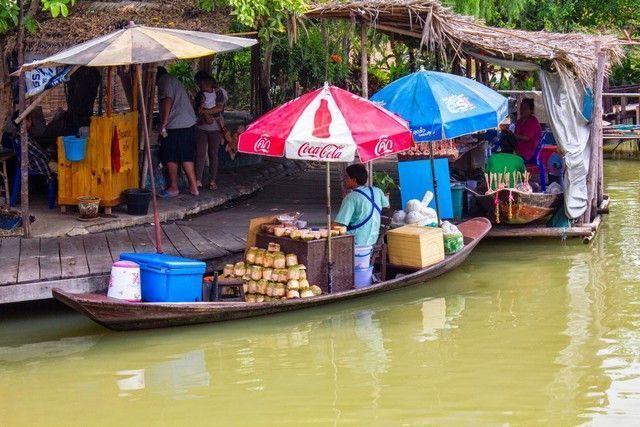 mercado flotante ayutthaya 1
