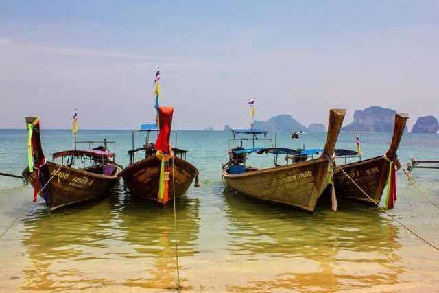 barcas tipicas railay tailandia