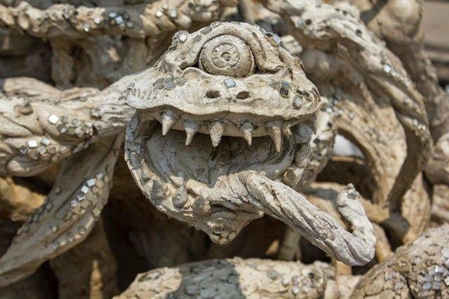 esculturas templo blanco chiang rai
