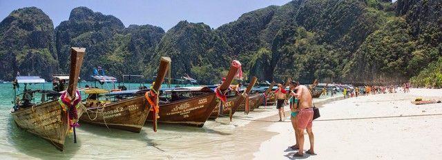 panoramica de maya beach tailandia