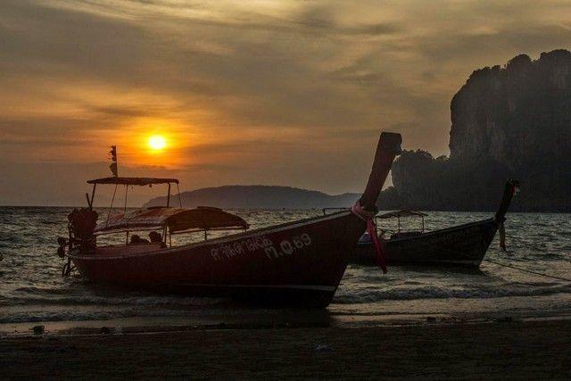 puesta de sol en railay