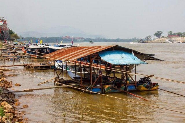 Las tres zonas: en primer plano Tailandia, al fondo Myanmar y al lado derecho Laos.