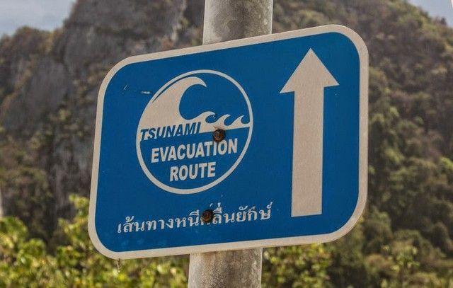 señal tsunami evacuacion