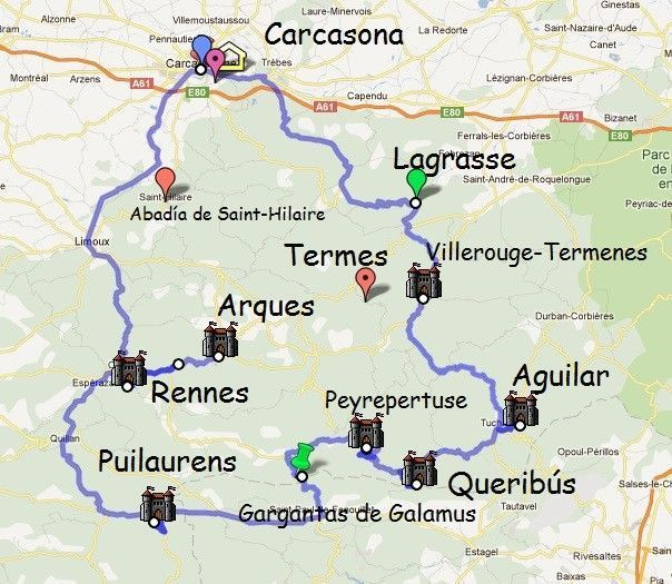 carcasone ruta de los castillos cataros