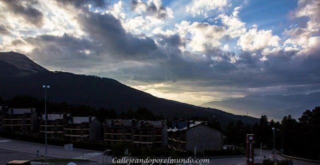 atardece en La Molina Gerona