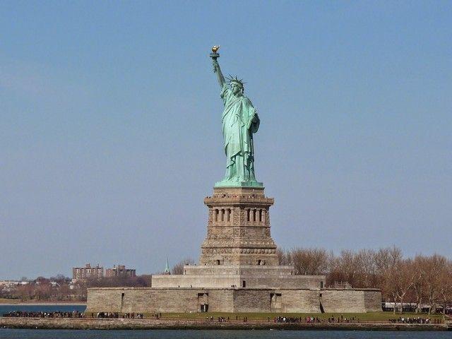 estatua libertad desde el ferry gratuito