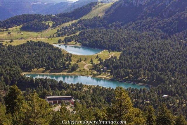 vistas de los lagos desde telecabina la molina