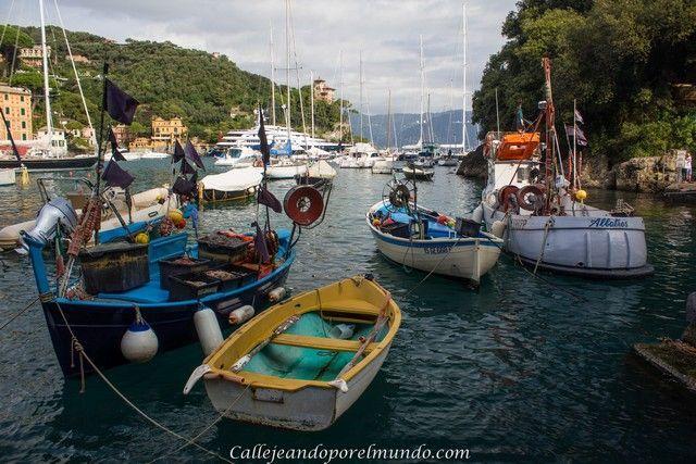 Portofino Barcas en el puerto