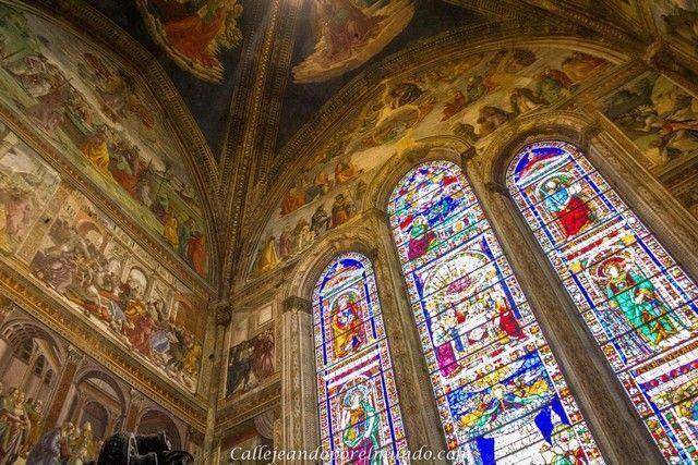 florencia Santa María Novella detalle interior cristalera y techo