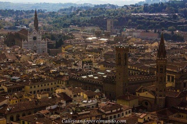 panorama florencia desde Campanile de Giottola  edifcios