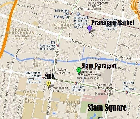 mapa siam square