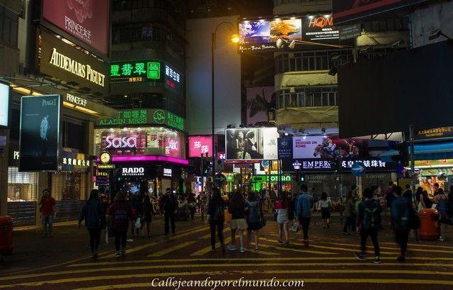 Times Square Causeway Bay Hong Kong nocturna