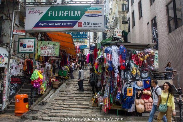 calles Hong Kong tradicional
