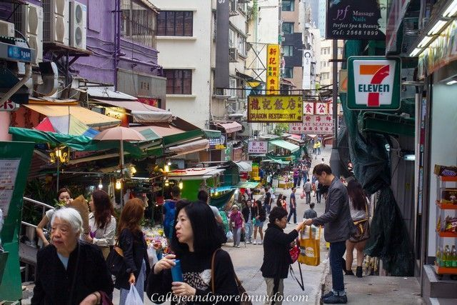 calles del Hong Kong tradicional