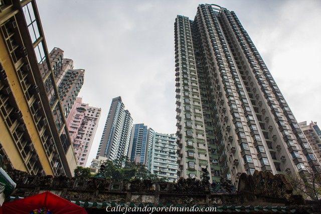 contraste Hong Kong exterior Man Mo Temple