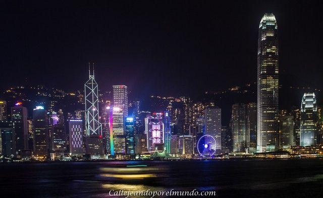 vista de la isla de Hong Kong desde Kowloon