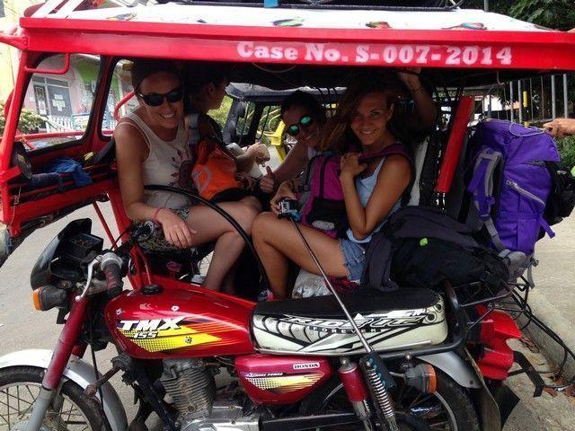 en triciclo hacia Siquijor