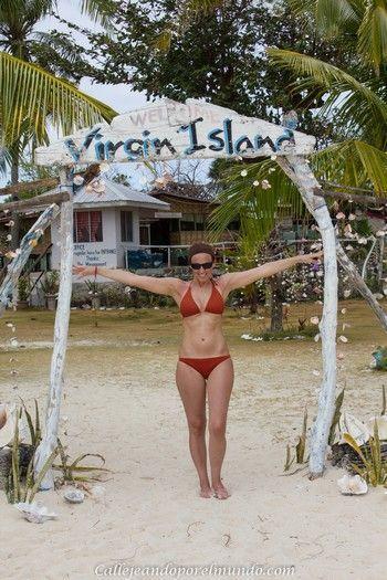 entrada a Virgin Island Bantayan Filipinas