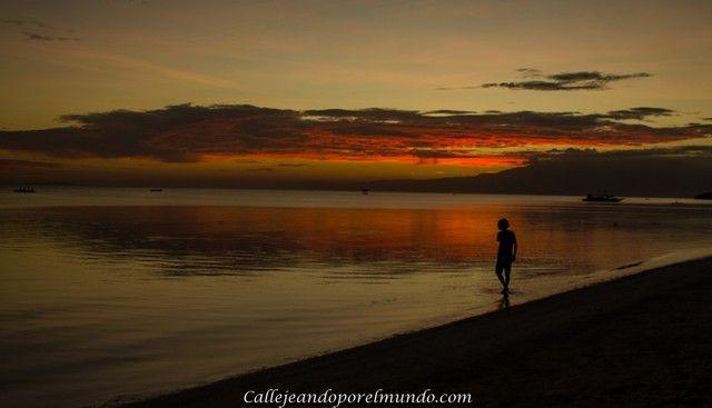 puesta de sol San Juan Siquijor Filipinas