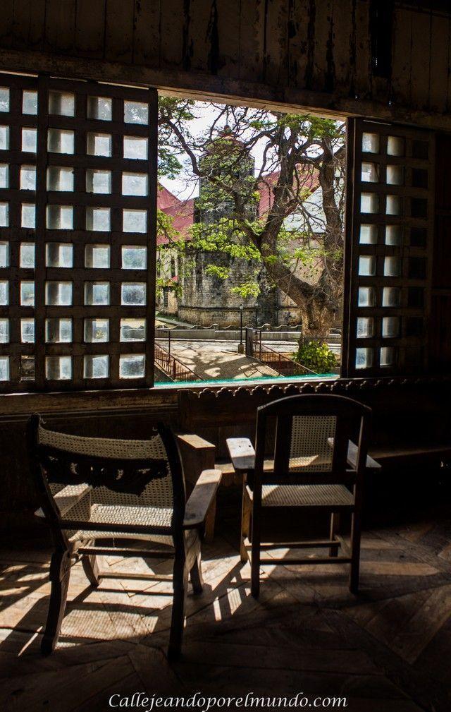 ventana interior convento siquijor