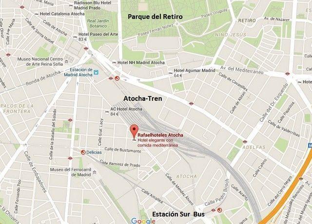 ubicacion Rafael Hoteles Atocha