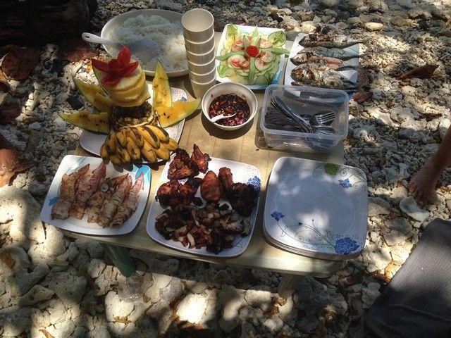 comida Tour A en el nido filipinas