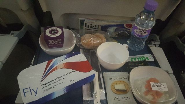 comida vuelo british airways londres singapur