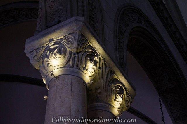 detalles interior catedral de manila filipinas