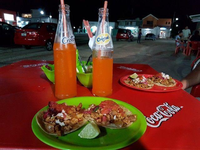 cenando en rio lagartos mexico