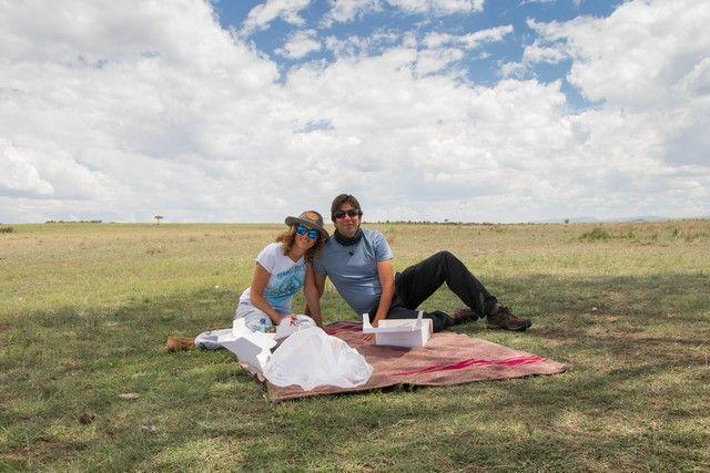 picnic en masai mara kenia