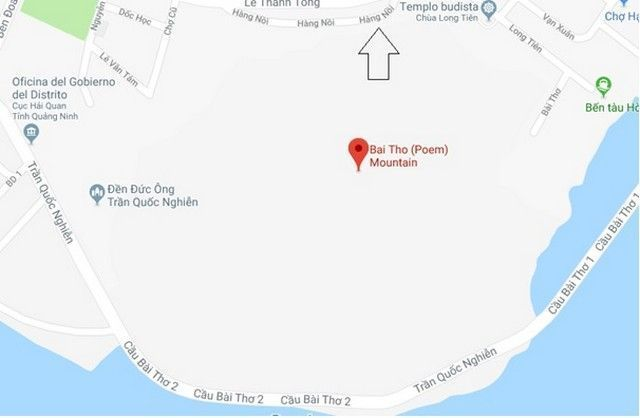 mapa de situacion de la subida a bai tho halong bay