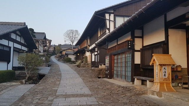 exterior magome chaya hoteles en japon